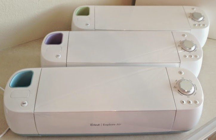 Cricut Explore Air Out of the Box - all three from above