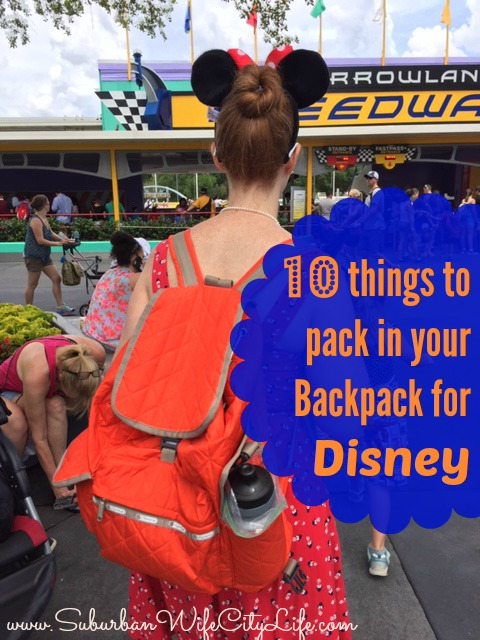 10 Things to put in your Backpack for Disney