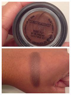 MAC cosmetics pro longwear paint pot constructivist swatched on dark skin