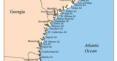 Map Of Georgia Barrier Islands.Sweet Southern Days Savannah Georgia S Historic River Street