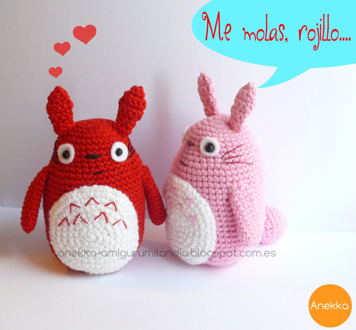 my neighbor totoro red amigurumi