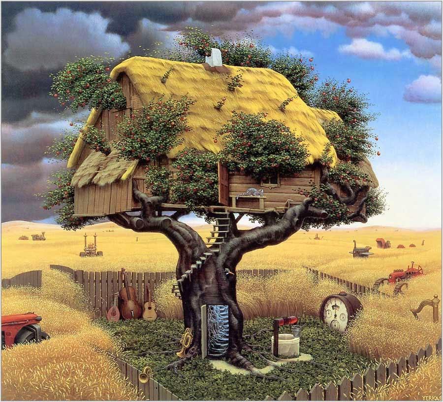 Amok Colheita - Jacek Yerka e seu surrealismo fantástico ~ Polonês