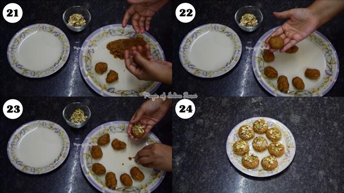 Halwasan (Gujarati Mithai) Recipe - खंभाती हलवासन  रेसिपी - Priya R - Magic of Indian Rasoi