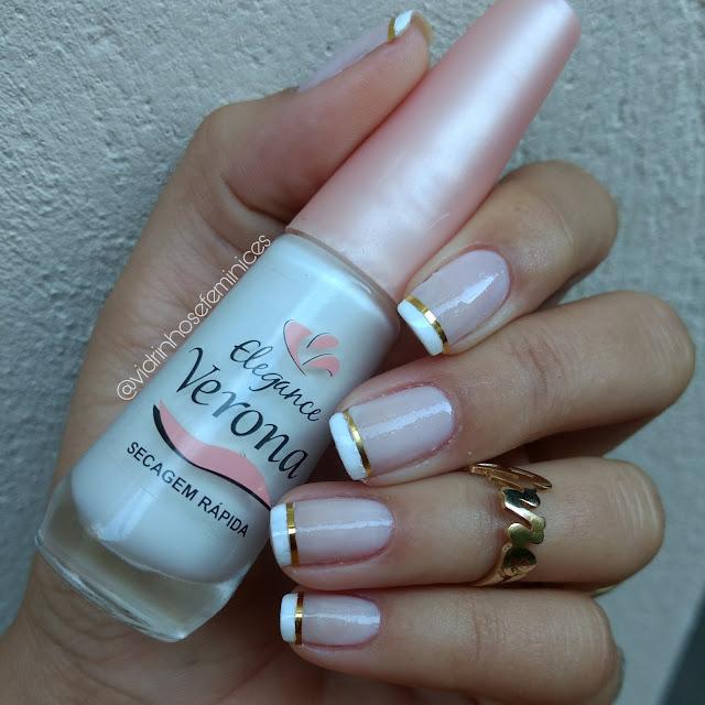 Unhas de noiva -branco verona