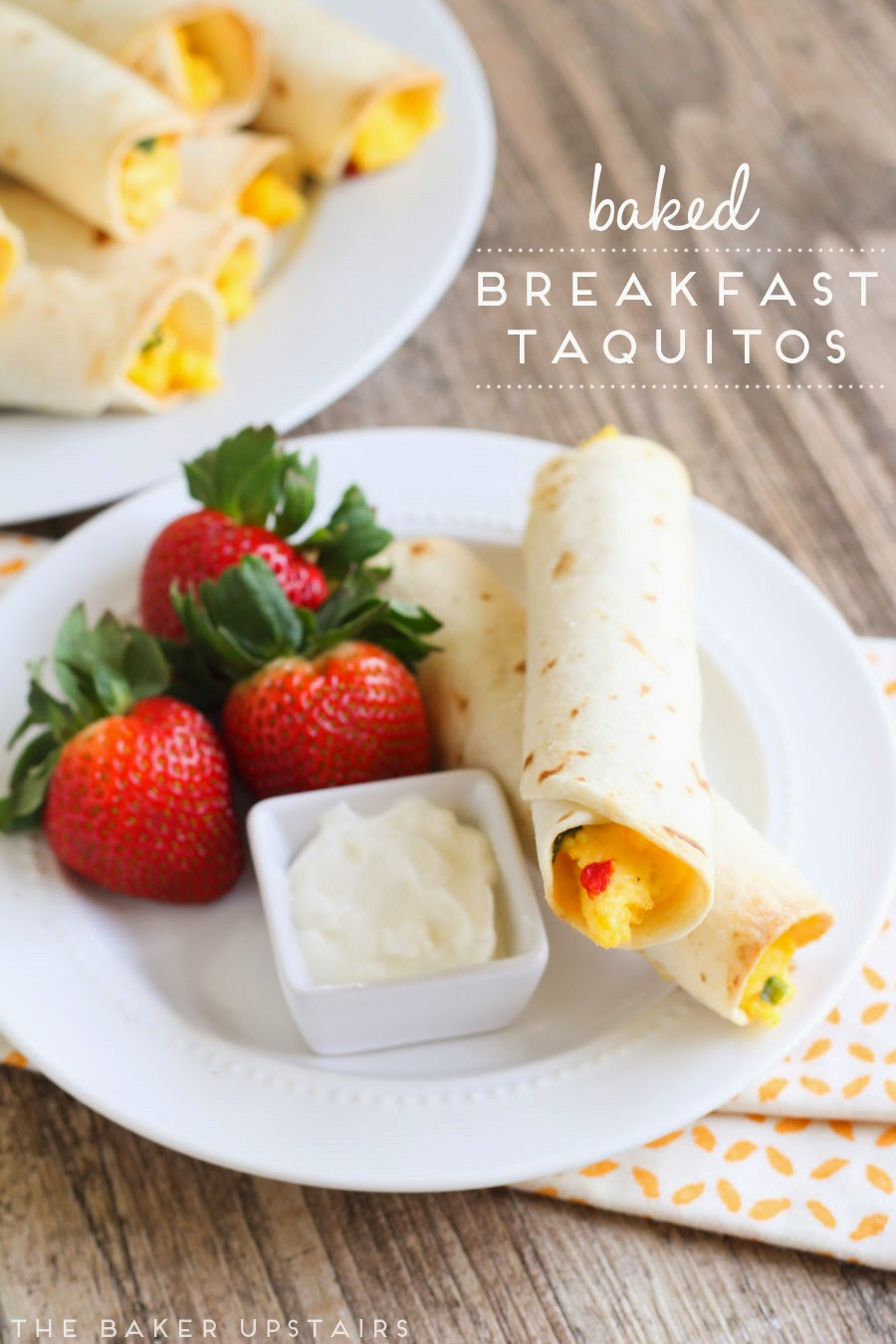 Baked breakfast taquitos - so easy, flavorful, and delicious!