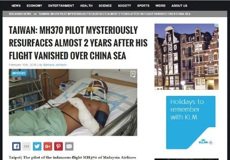 Juruterbang MH370 ditemui selamat?