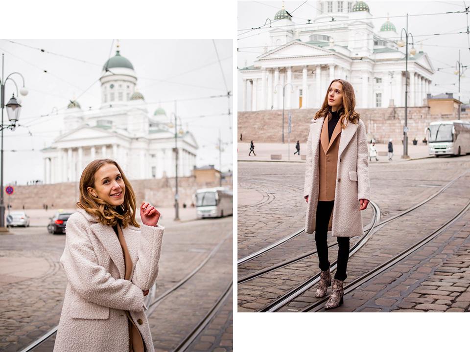 Helsinki Cathedral, fashion blogger, winter outfit - Helsingin Tuomiokirkko, muotibloggaaja, talviasu