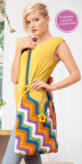 Bolsa Crochet Zigzag