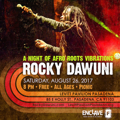 Afro Roots Vibrations With Rocky Dawuni At Levitt Pavilion Pasadena On August 26!
