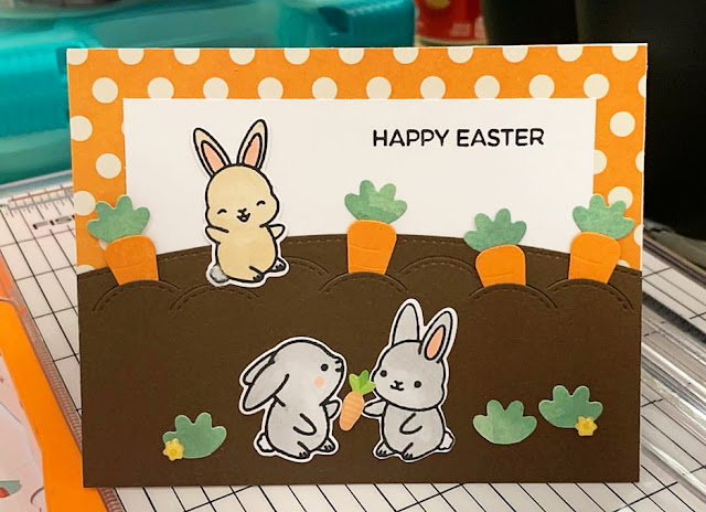 Sunny Studio Stamps: Chubby Bunny Customer Card Share by Vanessa Middleton