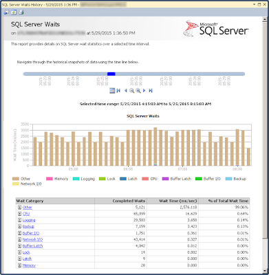 SQL Server Data Collector Wait Stats - Before