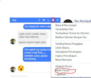 cara blokir pesan dari seseorang difacebook
