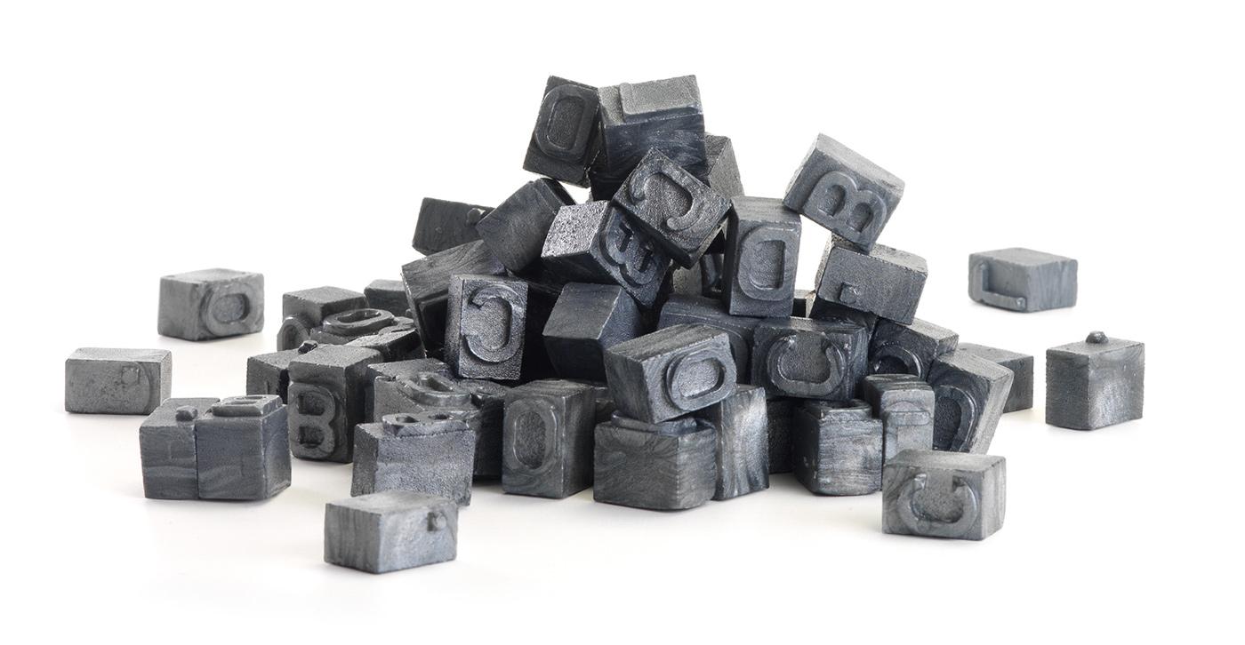 Tipos Móviles de Caramelo por BLOCD. | Johannes Gutenberg