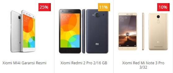Info Daftar Harga HP Smartphone Xiomi Terbaru