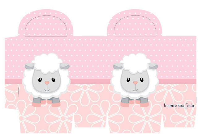 Baby Lamb in Pink Free Printable Box.