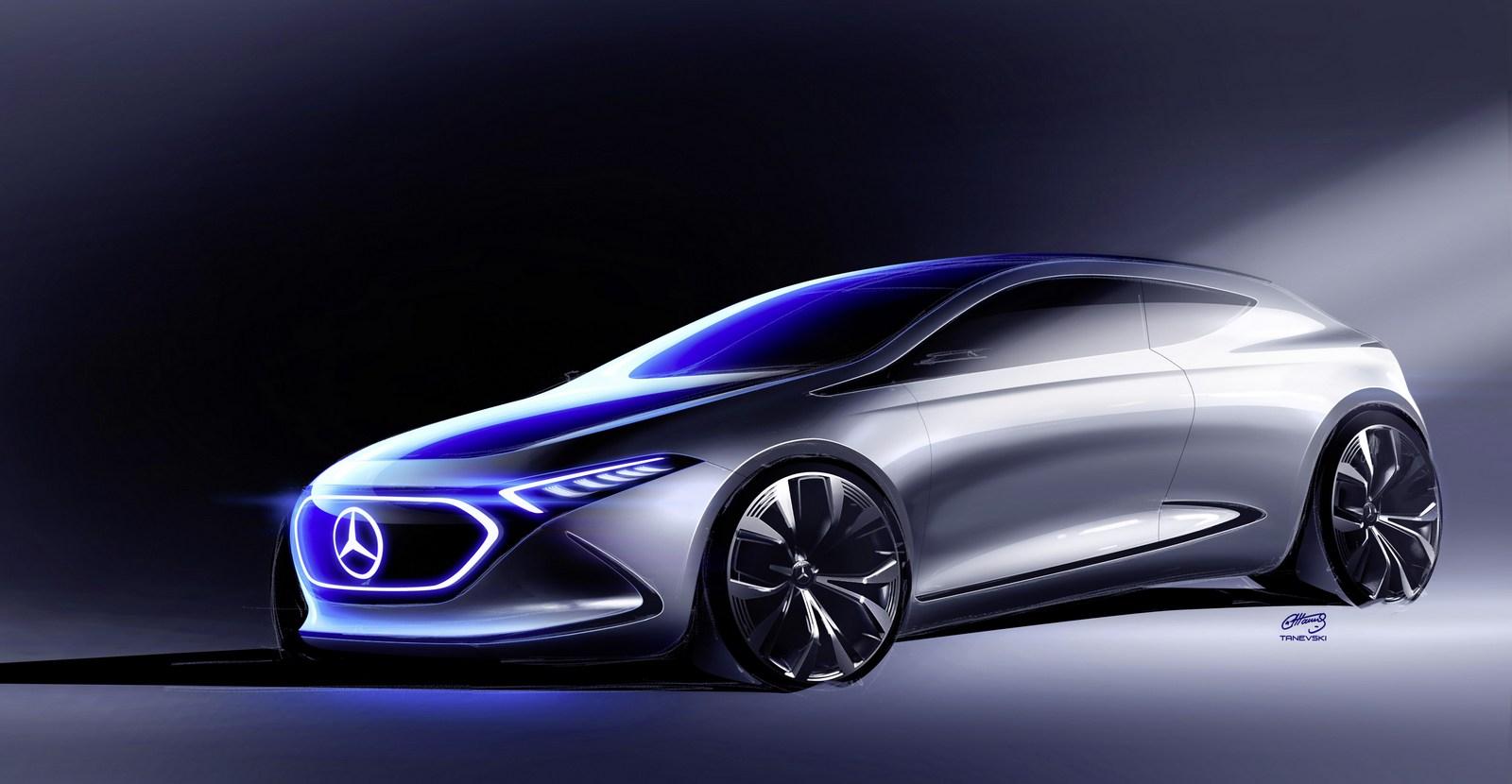 Mercedes benz electric eq a crossover for Mercedes benz ticker symbol