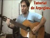 arpegio de guitarra, clase, aprender a tocar