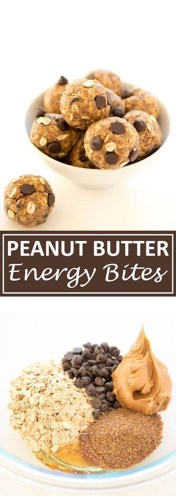 5 Ingredient Peanut Butter Energy Bites #peanut #butter #energybites #healthyrecipes #healthysnack