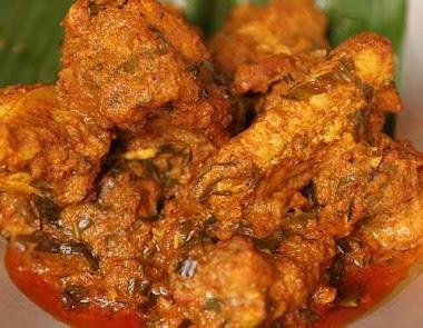 makankan lebaran rendang ayam