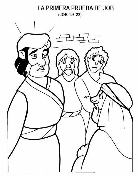 Historia Biblica De Job Para Colorear
