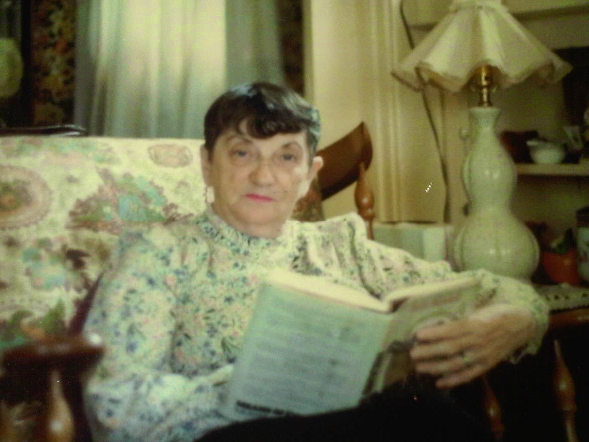 Grandma Ethel, reading