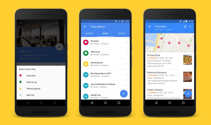 Google Maps now lets you create, share, and follow lists ...