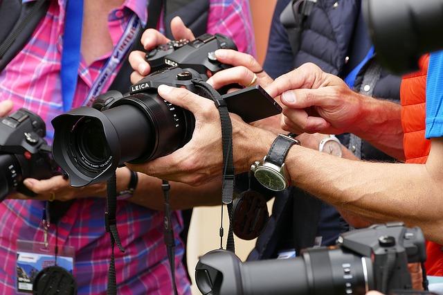 Fotógrafos y cámaras