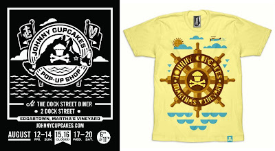 Johnny Cupcakes Martha's Vineyard Pop-Up Shop 2011 Exclusive T-Shirts - Ship Wheel T-Shirt