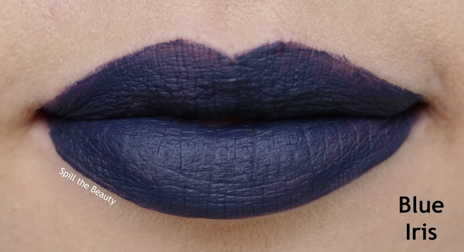 rimmel london stay matte liquid lip color review swatches 830 blue iris