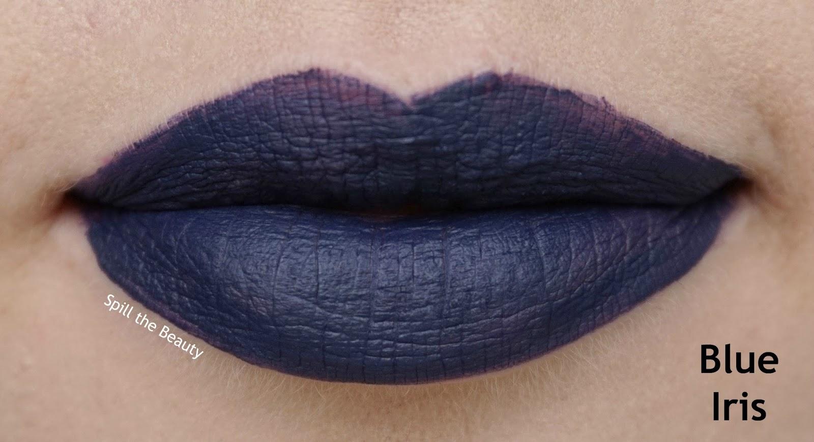 rimmel london stay matte liquid lip color review swatches 830 blue iris