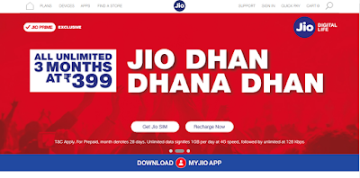 Reliance Jio Sim Official Website