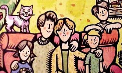 Dibujo de la familia para niños a colores