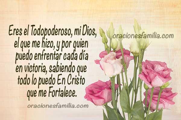 Frases de acción de gracias por este día, oración de la mañana dando gracias a Dios, oraciones cortas para comenzar el día por Mery Bracho.