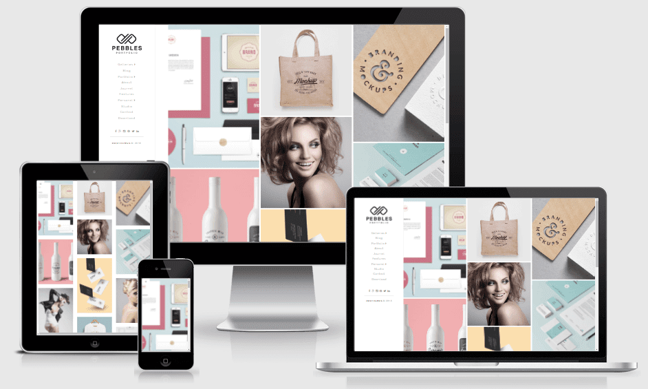 Download Pebbles Portfolio Responsive Blogger Template