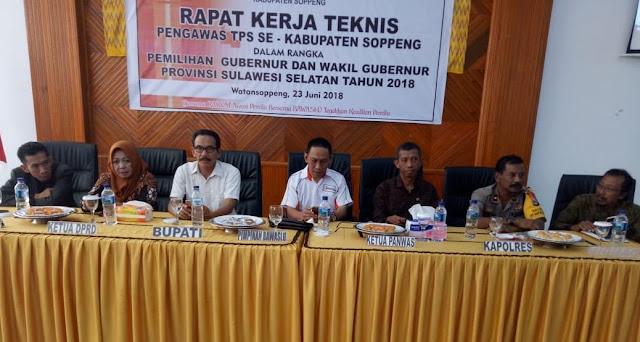 Panwaslu Soppeng Kumpulkan Anggota PTPS se-Kabupaten Soppeng, Ini Tujuannya