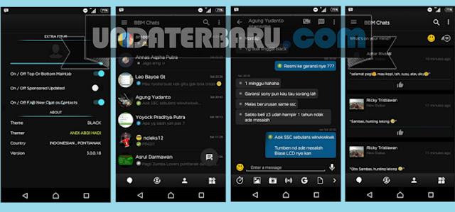 download BBM Mod Black Theme v3.0.0.18 APK Versi Terbaru
