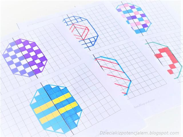karty pracy z ćwiczeniami symetrii i szablony do pobrania
