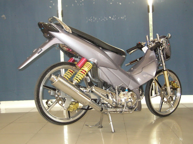 Modifikasi Warna Motor Supra X