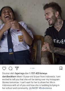 Kumpulan Instastory David Bechkam Saat Akunnya Dibajak Sripun Siswi SMP Di Semarang