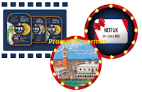 Logo Vinci il Grande Cinema con Fini GranRipieni: vinci 75 Netflix Card da 50€ e 2 soggiorni a Venezia