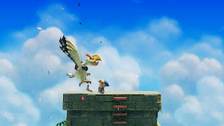 Link defeats the Evil Eagle with his Boomerang
