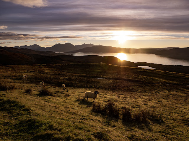 View from Raasay looking South-west towards the Cuillins