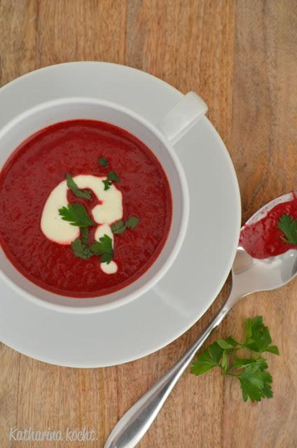 rote bete suppe mit k rbis und kokosmilch katharina kocht. Black Bedroom Furniture Sets. Home Design Ideas