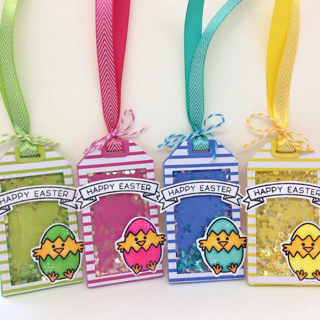 Sunny Studio: A Good Egg Easter Gift Tags by Ashley