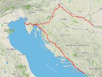 My actual route around Croatia