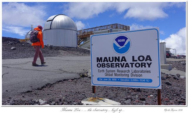 Mauna Loa: ... the observatory... high up...