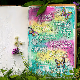 Layers of ink - Mixed Media Word Art Journal by Anna-Karin Evaldsson