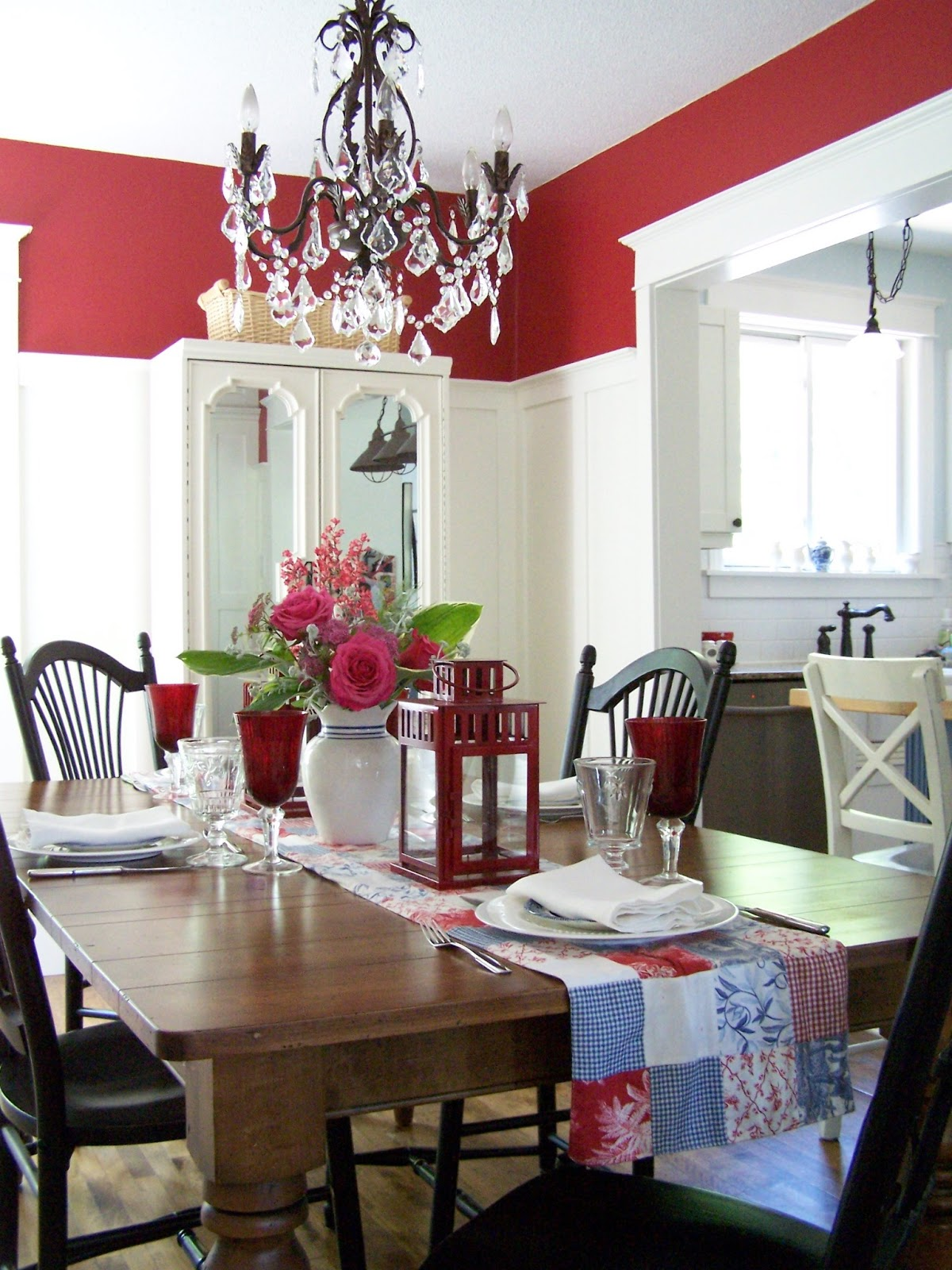 Dining Room Red Wall