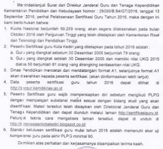 surat pelaksanaan plpg