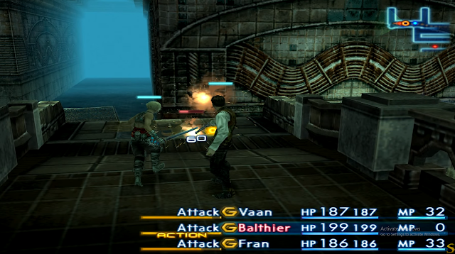 Early battles in the sewer Final Fantasy 12